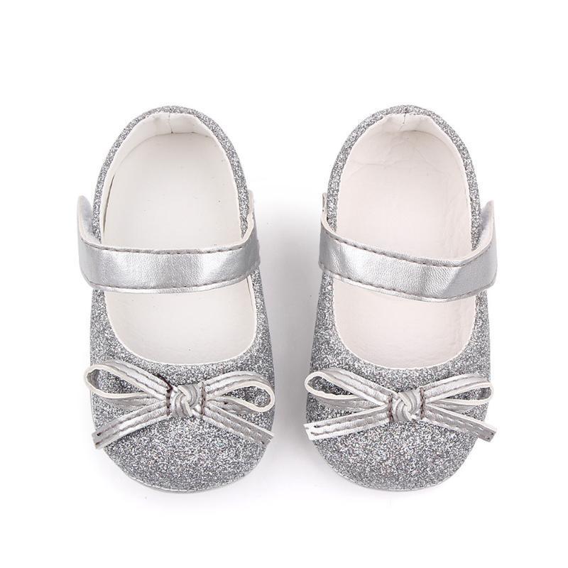 공주 실크 활 최초의 워커 아기 유아 Moccasins 소녀 Mary Jane Hard Sole Shoes 0-18 개월