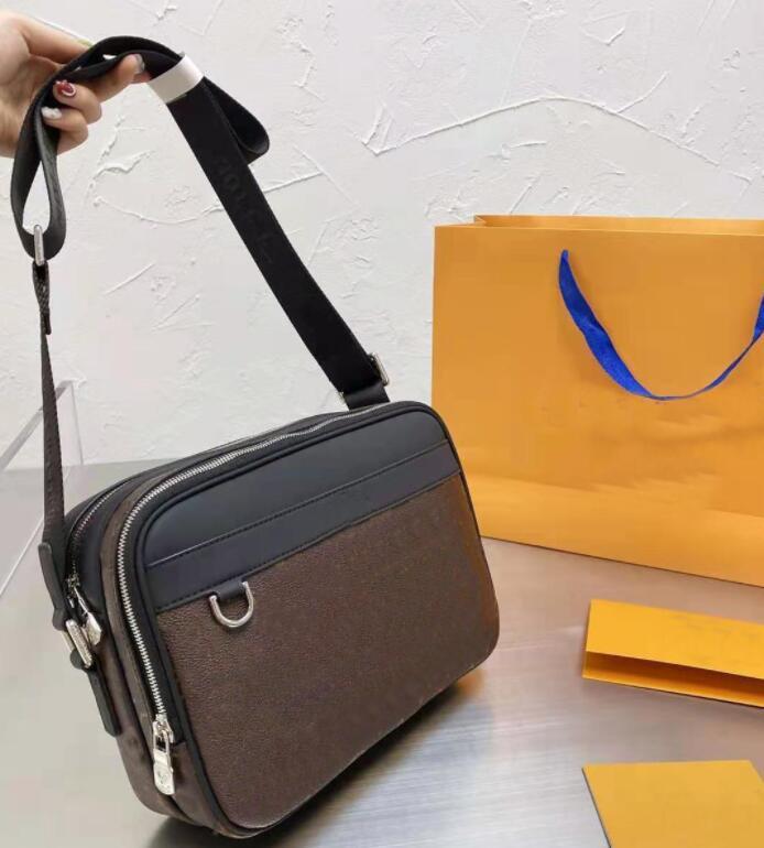 Tasarımcı erkekler evraklar erkek unisex omuz çantaları deri çantalar çanta crossbody messenger çanta kamera eğlence erkek