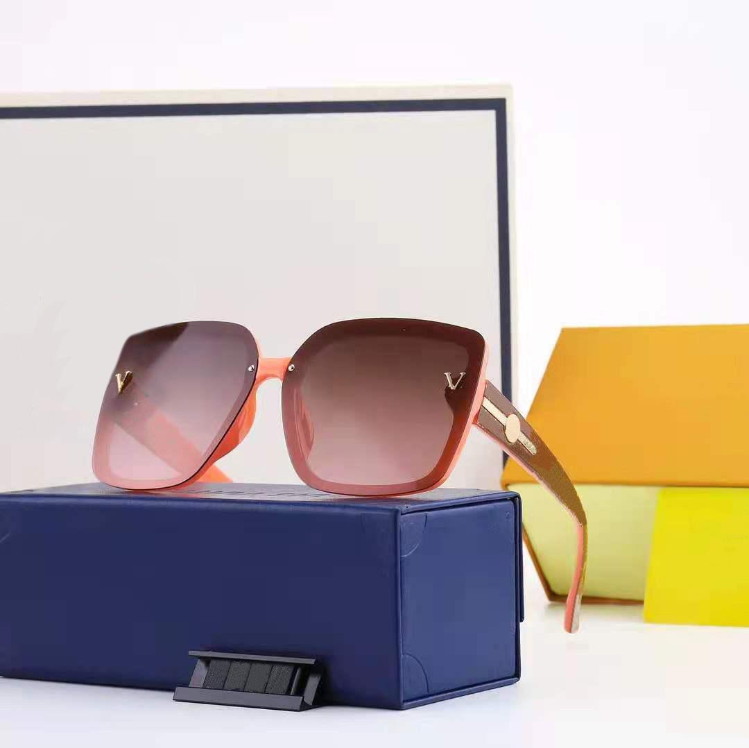Óculos de praia de óculos de praia para homem mulher verão sombra uv400 quadro completo 6 cor de qualidade superior com caixa