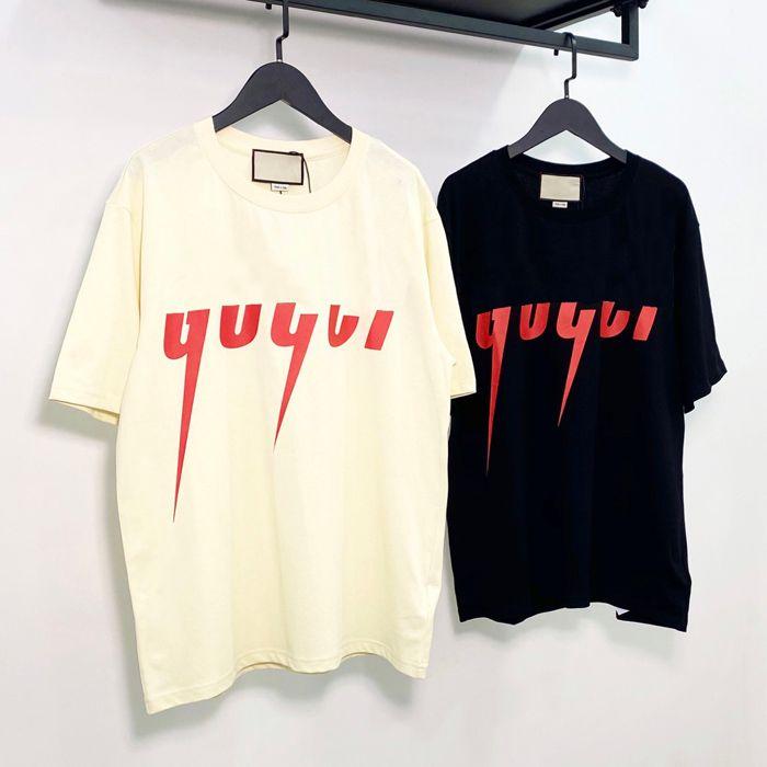 21SS Buono Qaulity Summer Mens Designer Tees 100% cotone stampa T-shirt moda casual coppie casual maniche corte T-shirt T-shirt G5411