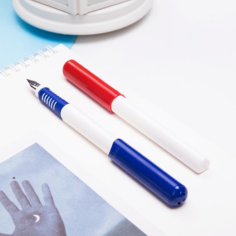 Canetas de fonte Deli EF Nib Student Papeleria 0.5mm Erasable Azul Pen Office Business Assinatura Estacionário