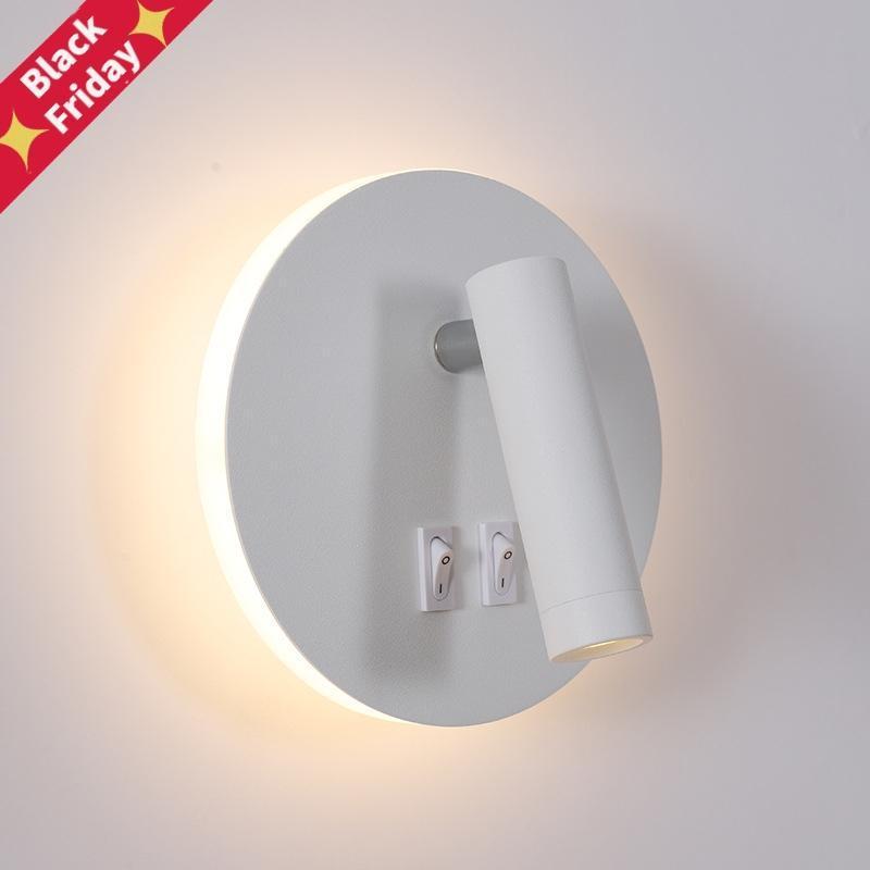 Wandleuchte Hintergrundbeleuchtung 350 Grad rotation Verstellbare Lampe El Schlafzimmer Nachtstudie Lesen Lesung mit Schalter