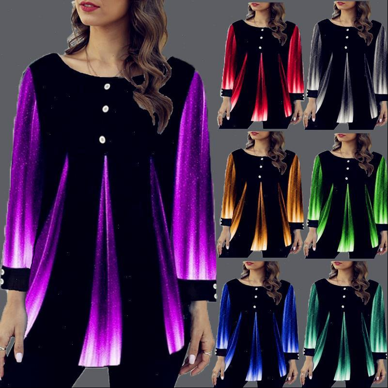 Spring Tops Colors Vintage Sexy Women Shirts Ruffles Casual Plus Sizes Boho Large Big Loose Tee Long Sleeve Femme