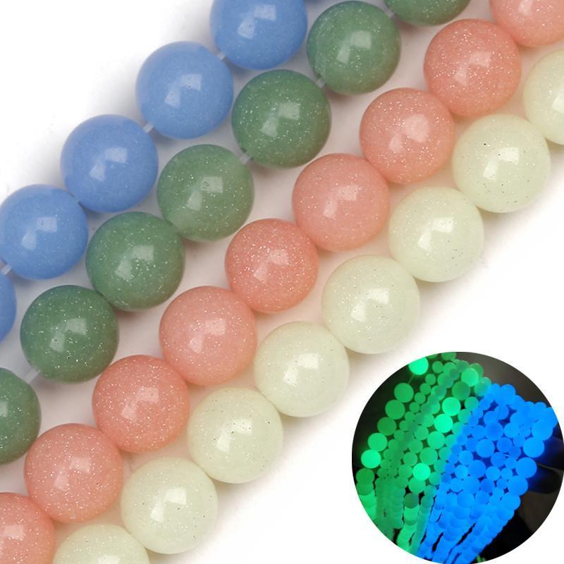 Atreus luminoso brilla intensamente en las perlas redondas de piedra natural suelta para la joyería que hace bricolaje pulsera de yoga 6/8 / 10mm Otro