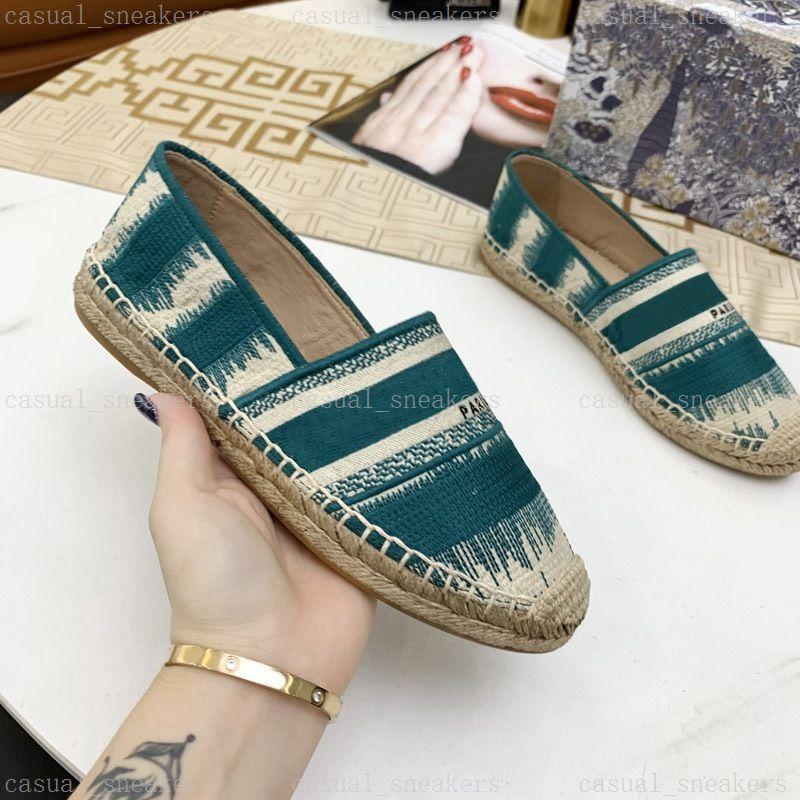 Frauen Espadrille Sandale dunkle nackte tiefe ozean multicolor gestickte baumwolle sandalen mode stickerei espadrilles frauen seil so einzige mules casual canvas rutschen