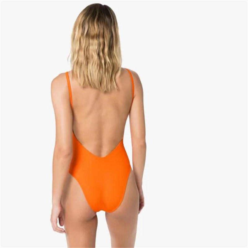 금속 체인 여성 수영복 비키니 편지 인쇄 Womens 원피스 수영복 푸시 위로 패딩 된 숙녀 수영복