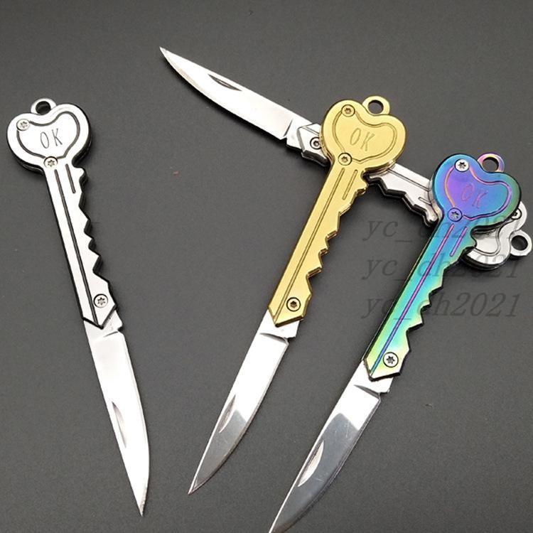 مفتاح شكل مفتاح صغير المفتوح كيت جادجت أضعاف جيب كيرينغ حزمة متعددة أداة كامب فتاحة البقاء على قيد الحياة خطاب بليد في الهواء الطلق