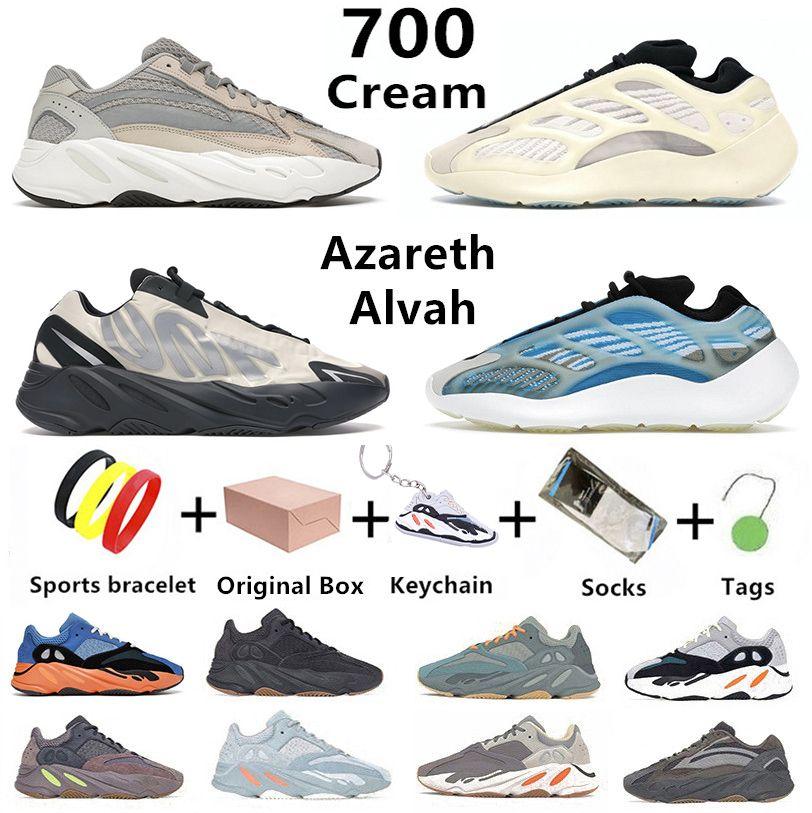 Yeezy Boost 700 V2 Kanye West Cream Hommes Femmes Chaussures De Course V3 MNVN Azareth Azael Alvah Static Vanta Utility Noir Os Tephra West Hommes Femmes Baskets Baskets De Sport