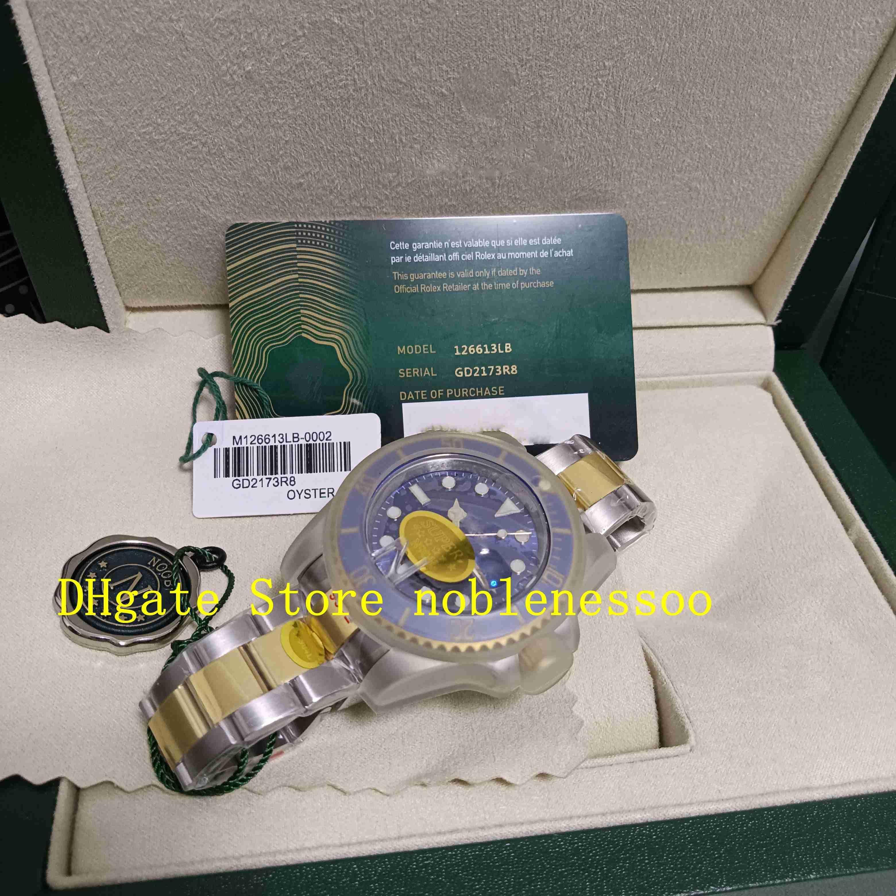 2 Color With Original Box N Factory 126613LN Watches Men's 41mm Ceramic Bezel Black Blue Dial 126613 Sapphire Glass 18k Gold 904L NoobF Eta Cal.2813 Automatic Watch