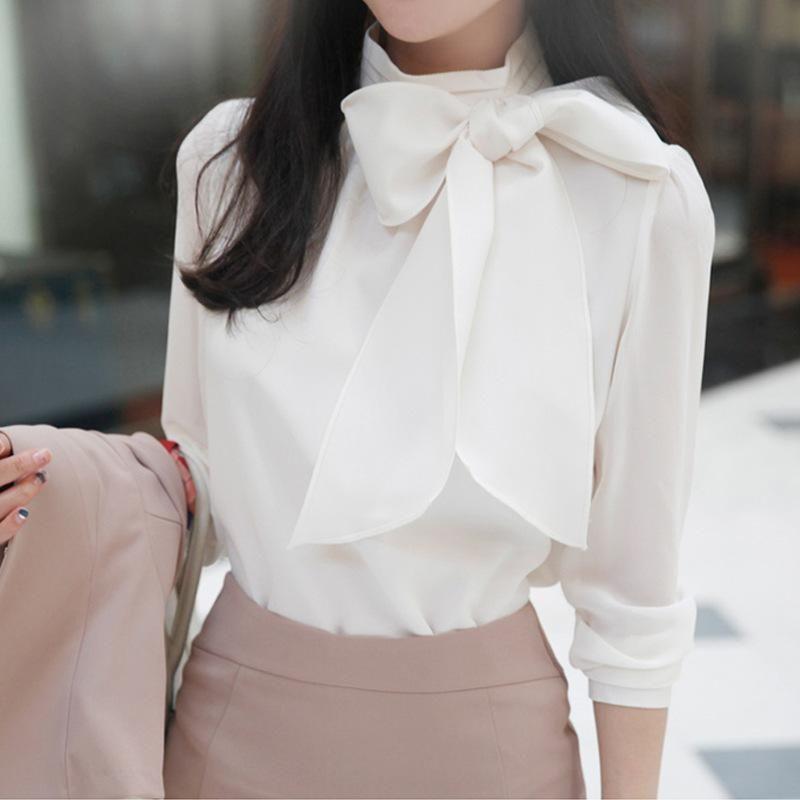 Blusas das mulheres camisetas Mulheres elegantes moletom 2021 outono moda laço gravata colarinho preto pullover moda elegante manga longa casual tops b