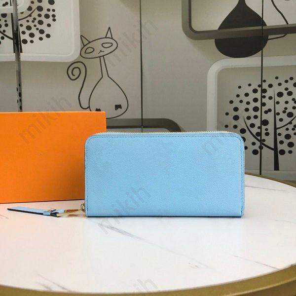 Moda womens wallets gradient cor logotipo design clássico longo zíper topo carteira de alta qualidade senhora senhora bolsa