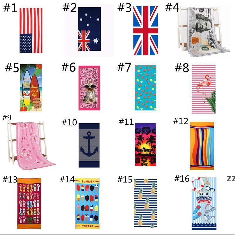 Beach Towel Ultra Soft Microfiber Beachs Carpets Towels For Adults Personalized Super Absorbent Quick Dry Pool sea shipping HWB8504