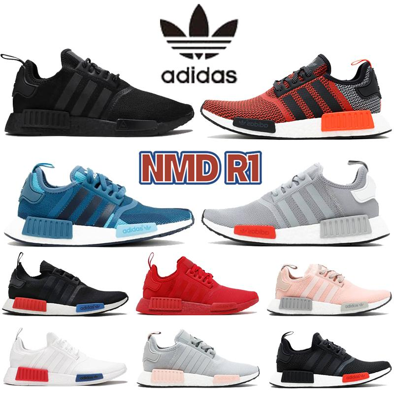 مع صندوق adidas nmd r1 رجل الاحذية المورقة الضوء الأحمر onix أوروبا الحصري الحصري اللمس الأخضر الثلاثي الأسود الرجال النساء في الهواء الطلق المدربين أحذية