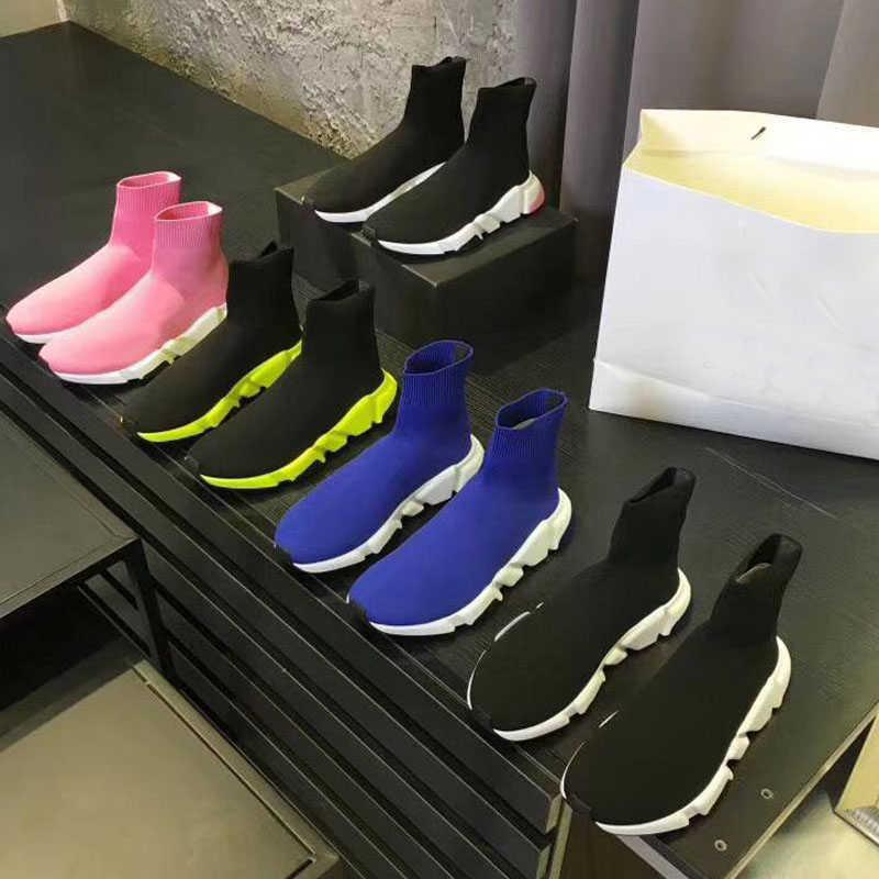 knitted elastic Socks boots Spring Autumn classic Sexy gym Casual women Shoes Fashion platform men sports boot Lady Travel Thick sneakers