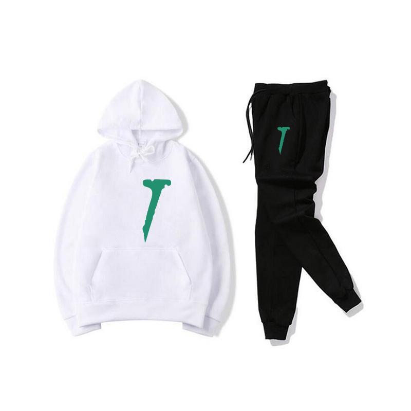 Brand Pullover Sets Luxury Herren Designer Trainingsanzüge Lässige Hoodies Hosen Männer Sportswear Panel Hoody Sweatshirt Männliche Anzüge Hip Hop Kleidung 2 Stück