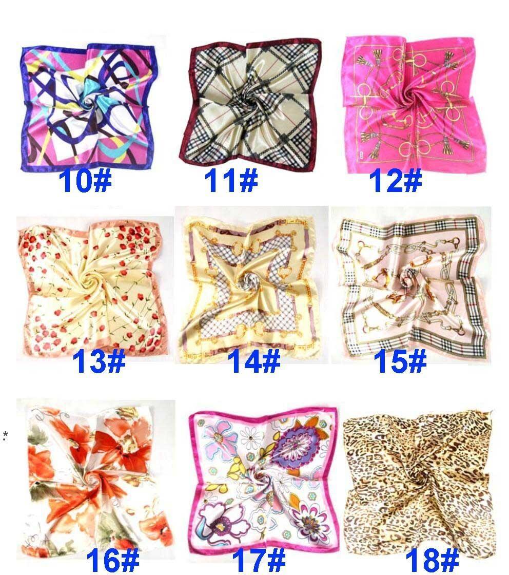 Verano otoño e invierno bufandas pañuelo hembra imitación wersatile profesional pequeño cuadrado seda bufanda NHA4622