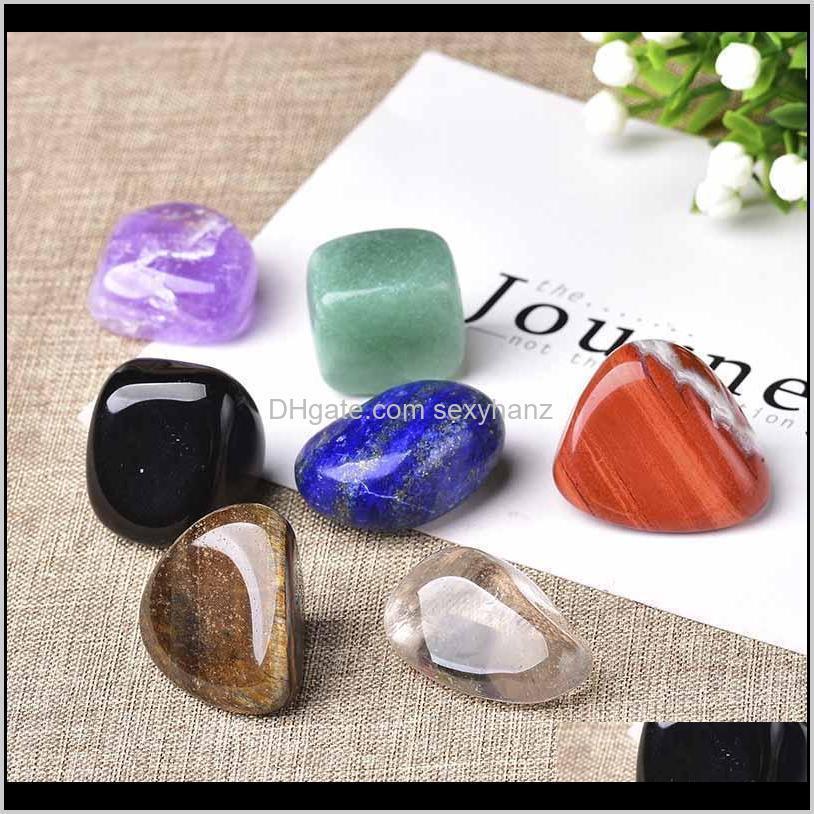 Rock Crystal Quartz Natural Seven 7Colors Set Yoga Chakra Irregular Reiki Healing Crystals Stone Polished Individual Stones Com Qylnpj Nyzxe