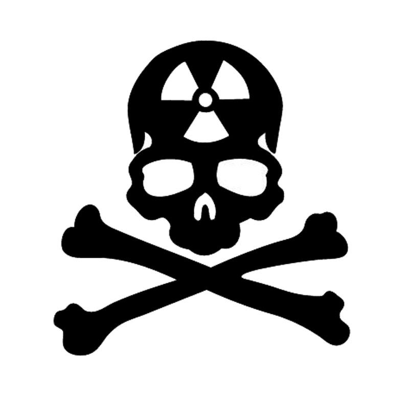 15.1*16CM Danger Form Warns Skull Car Stickers Decoration Vinyl Motorcycle Accessories Graphic C16-0205