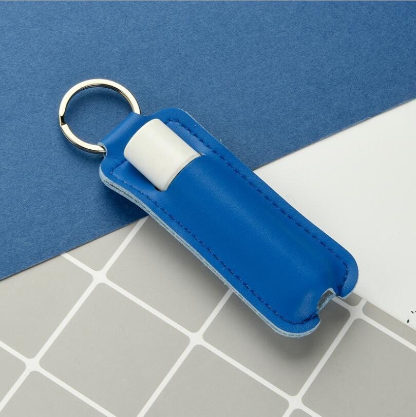 PU Batom Saco de Armazenamento Portátil Chaveiro Makeup Keychain Gift Gift Mini Beleza Caso Protector Bolsa DWC7129