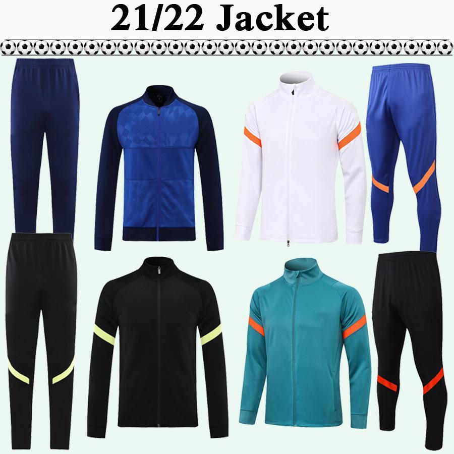 21 22 Kante Jaqueta Pulisic Terno Mens Cinza Luz de Manga Longa Futebol Jerseys Kit Kovacic Willian Jorgino Lampard Adulto Futebol Camisas