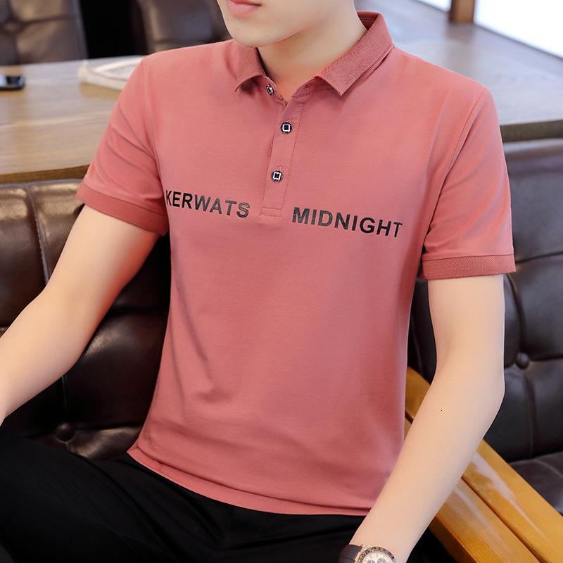 Polo 2021 estate manica corta da uomo a maniche corte polo polo tendenza coreano versione coreana bella indumento superiore tampone t-shirt uomo