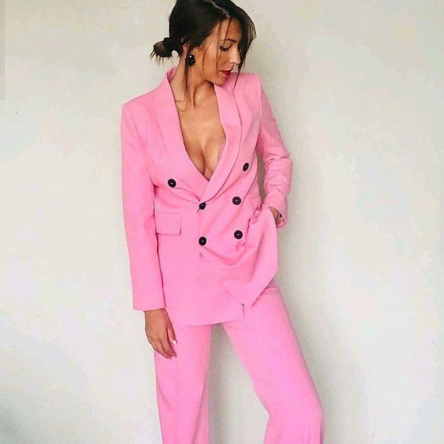 Veste à manches longues à manches longues de mode rose vierge élégante Collier élégant Collier Collier Converses Femme Taileur Femme