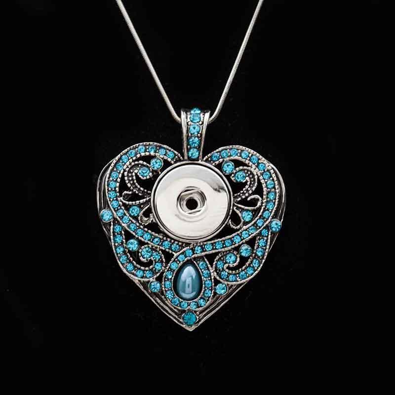 Модное взаимозаменяемое цветочное сердце имбирь ожерелье 167 Fit 18 мм привязки подвеска очаровательные украшения для женщин подарочные ожерелья