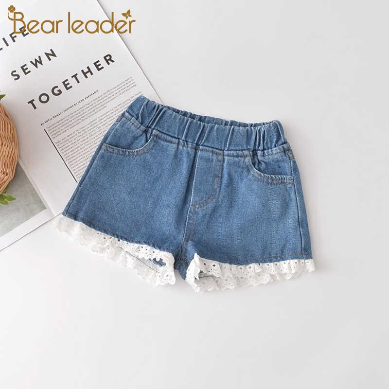 Bear Leader Girls Kids Shorts Fashion Baby Girl Denim Pants Toddler Summer Lace Leggings Children Clothes for 2 7 Years 210708