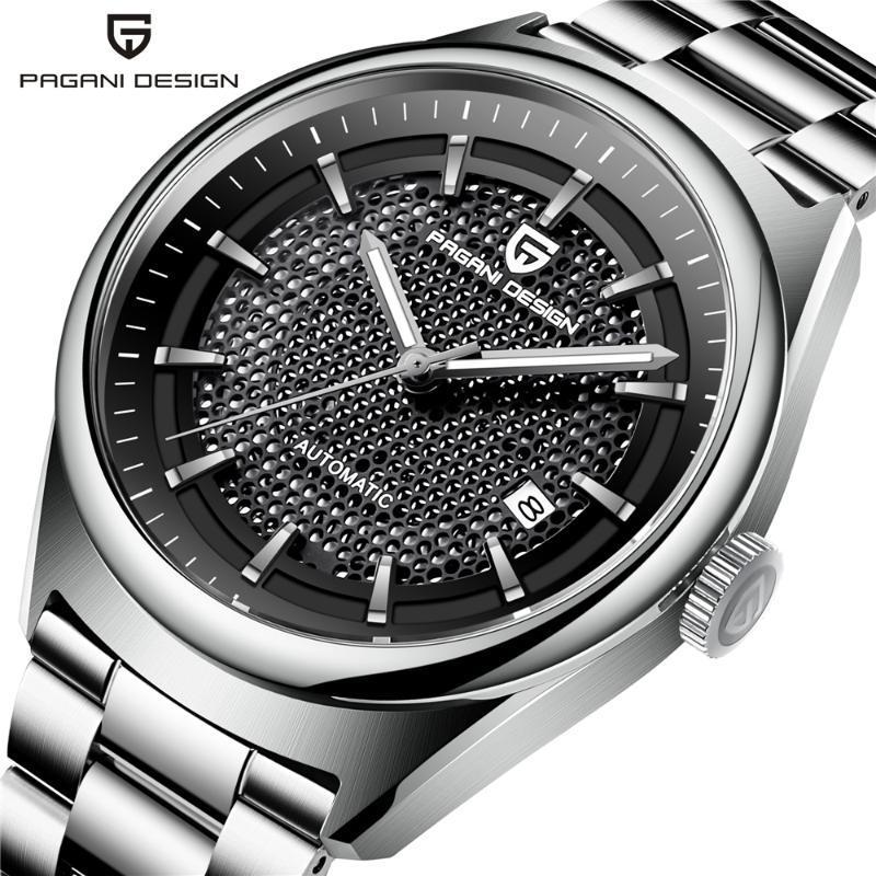2021 Üst Moda Lüks Erkek Mekanik İzle Askeri Paslanmaz Çelik Iş Su Geçirmez Saat Relogio Masculino Saatı