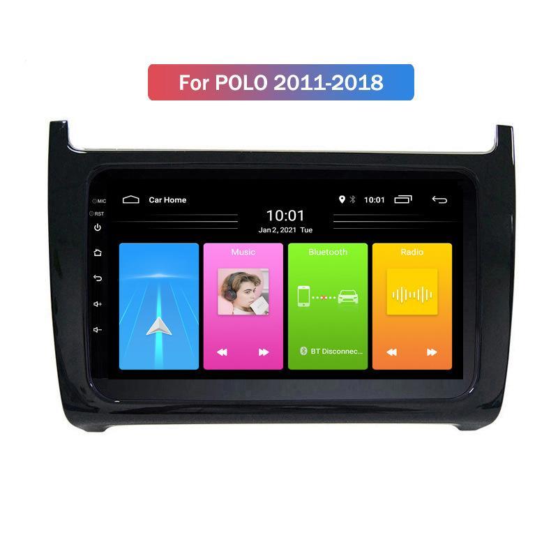 Sistema multimediale Radio Auto Stereo Android 10 Head Unità Auto Lettore DVD per VW POLO 2011-2018 Bluetooth WiFi Supporto DVR Carplay