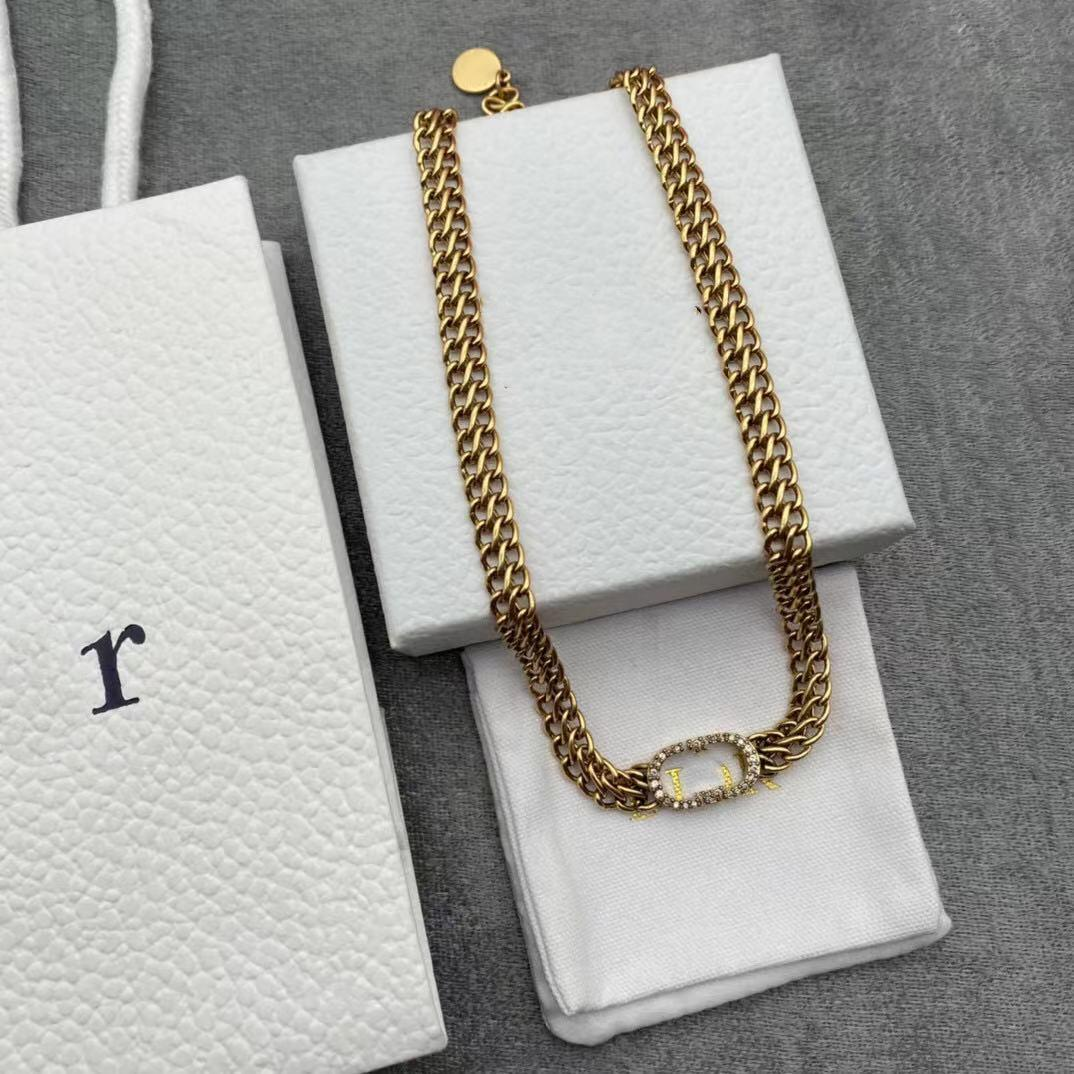 Designer Halskette Überzogene Schraube Schmuck Schlüsselbeinkette mit Rosengold Platinum Einfache und Mode Frau Liebe Geschenk 18 Modell
