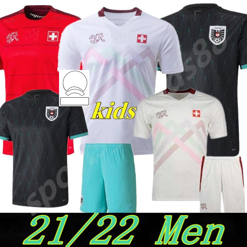 Euro 2021 Suíça Camisas de futebol Switzerland Seferovic 20 21 Ajeti Elvedi Embolo Akanji Alaba Xhaha Behrami Camisa de Futebol Shaqiri Nagoya Mens Kit Kit Jersey
