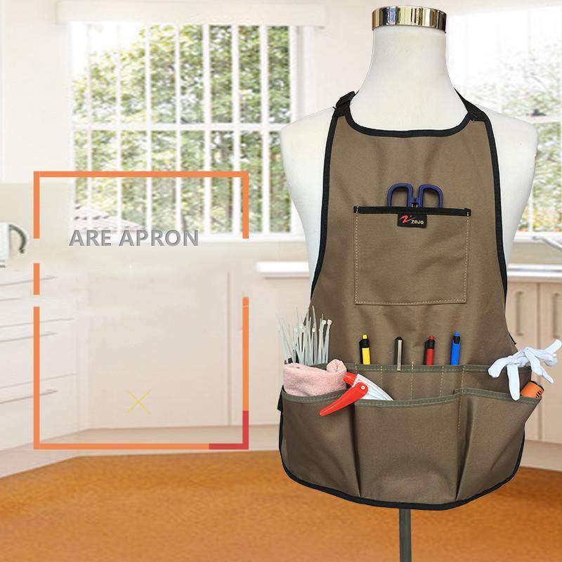 Oxford Cloth Garden Apron Thickening Tools Belt Multifunction Waterproof Wear-resistant For Women Men Aprons