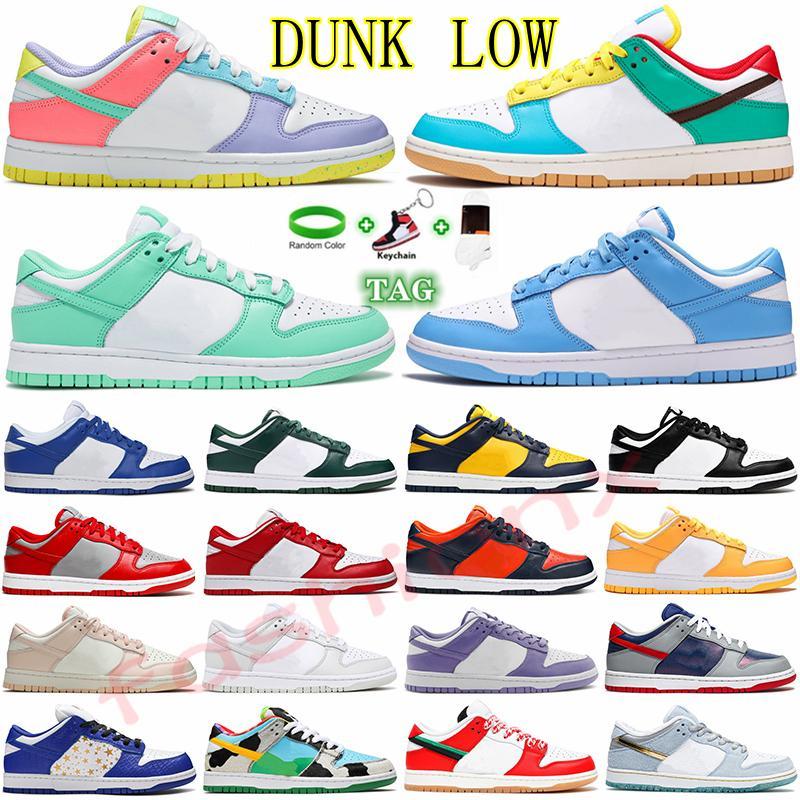 2021 Dunk SB Faible course Chaussures de course Cactus Jack Raygun Tie Dye Strangelove X Saint Valentin Jour Dunk SB Chunky Dunky Designer Hommes Femmes Entraîneurs Sneakers