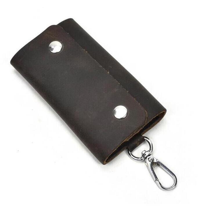 Hoyobish PU-Leder Großer Kapazitätsratsorganisator Key Tasche Brieftasche Reißverschluss Auto Keychain für Haushälterin