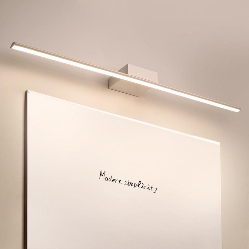 Glänzend schwarz / weiß 0,4-1,2 m moderner spiegel beleuchtung anti-nebel led badezimmer kleidetisch / wc / badezimmer lampe wand