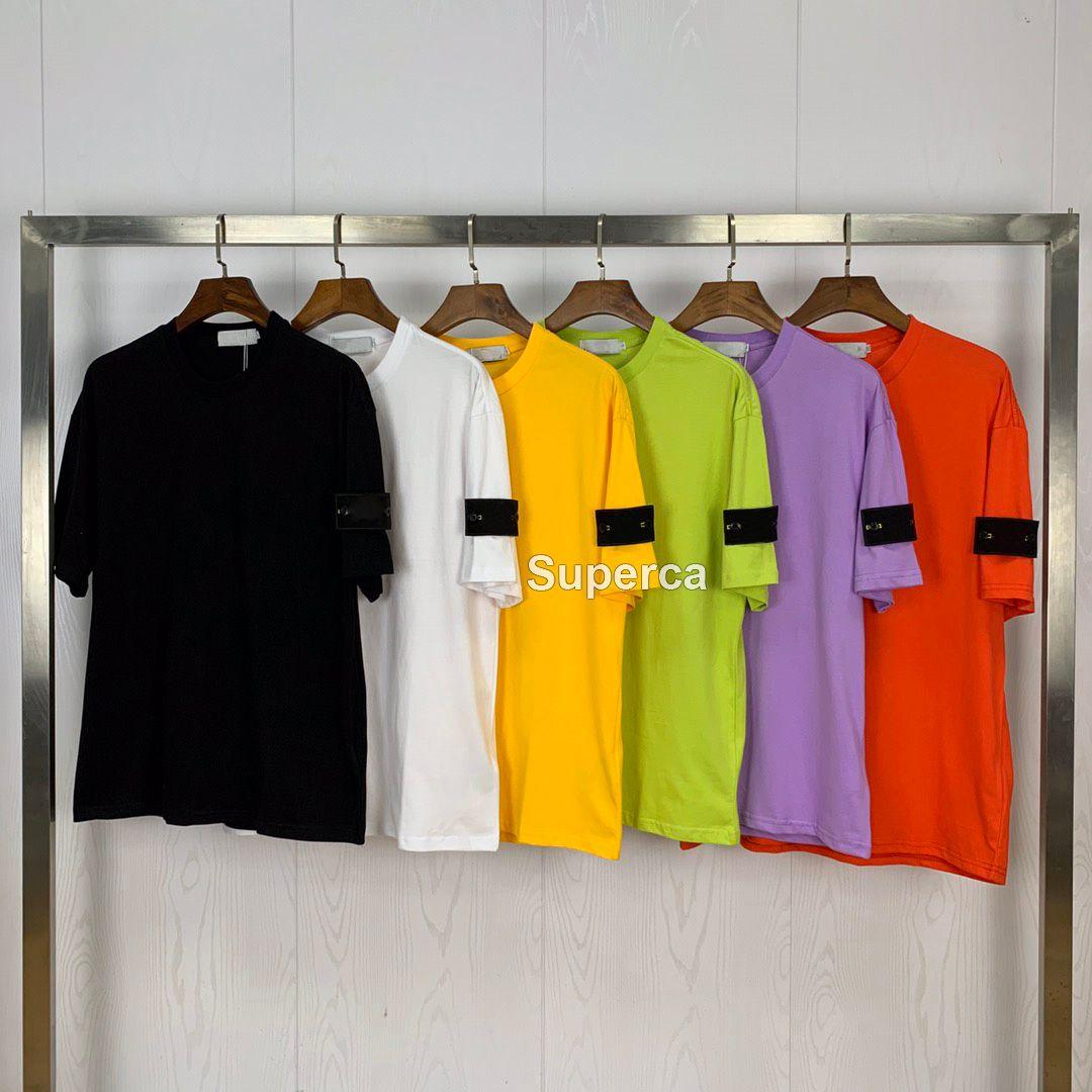 21ss 좋은 qaulity 여름 남성 디자이너 티셔츠 티셔츠 100 % 코튼 프린트 패션 캐주얼 커플 반팔 티 남성 Applique 티셔츠 Si022