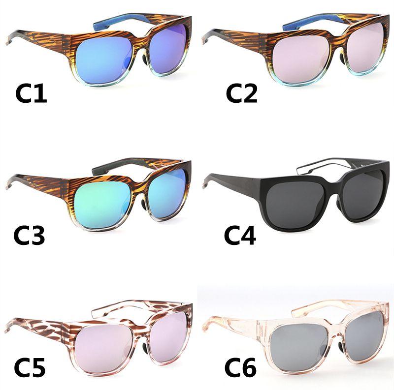 Lunettes de soleil polarisées pour femmes de luxe Surfs Sports Sports Protection UV Cadres colorés Lunettes de pêche