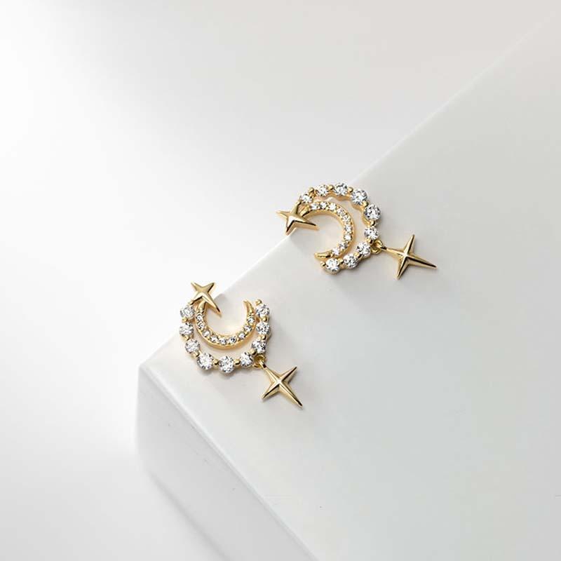 Micro temperamento argento micro intarsi Zircone orecchini Boho Gioielli Minimalismo Brincos Pendientes per le donne
