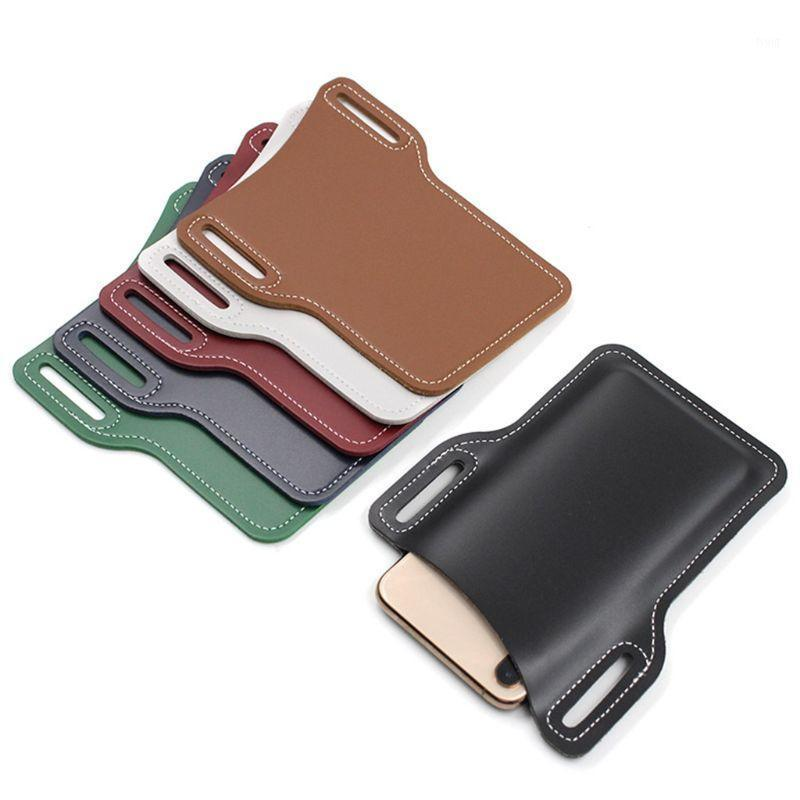 الهاتف المحمول الناقل حزام الحقيبة الرجال بو الجلود حلقة الحافظة حالة أحزمة الخصر حقيبة NEW1