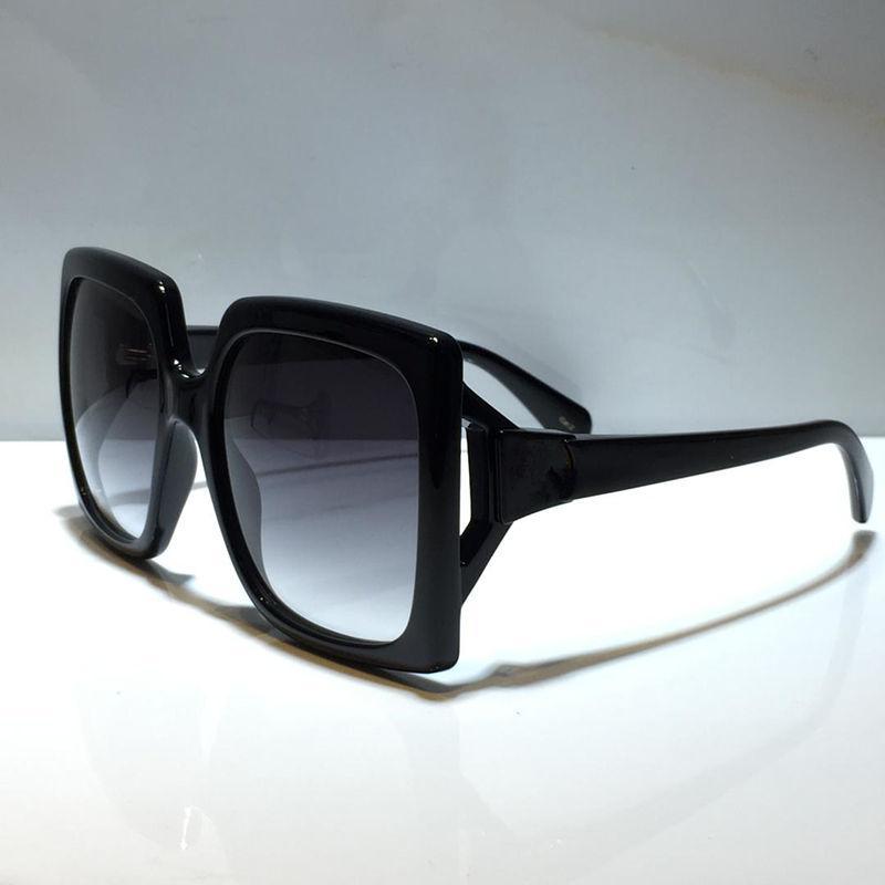 نظارات شمسية للسيدات نمط الصيف 0876 المضادة للأشعة فوق البنفسجية لوحة مستطيل غير مرئية إطار الأزياء النظارات مربع عشوائي 0876S
