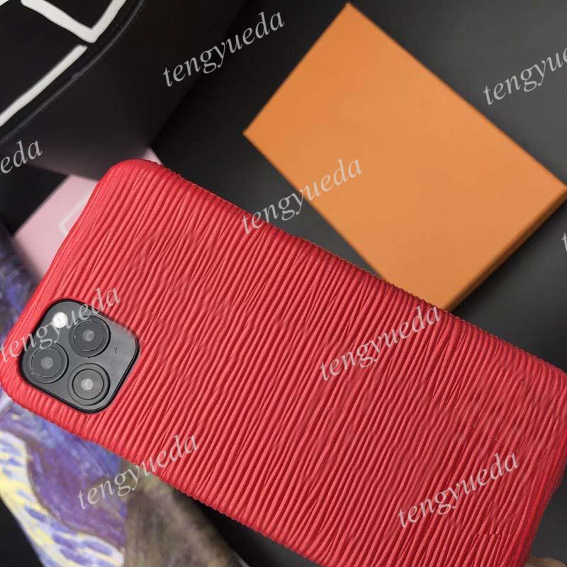 패션 디자이너 전화 케이스 아이폰 12 11 프로 최대 xs xr xsmax 7 8 플러스 최고 품질의 물 리플 가죽 럭셔리 핸드폰 커버와 삼성 Note20 S20 S10