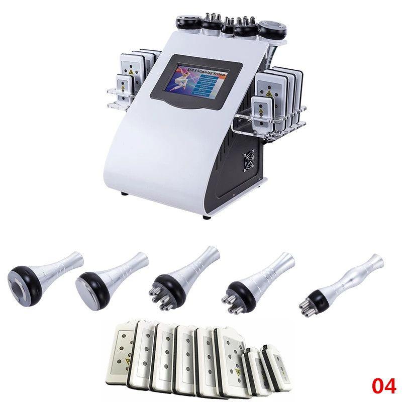6 in1 ultrasonik kavitasyon makinesi cilt kaldırma lipo lazer 40kimigize mide gövdesi için zayıflama-selülit