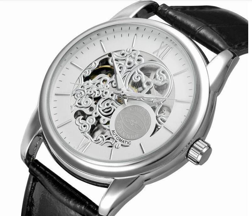 상단 판매 수상자 패션 남자 시계 망 시계 기계 자동 자동 손목 시계 WN59
