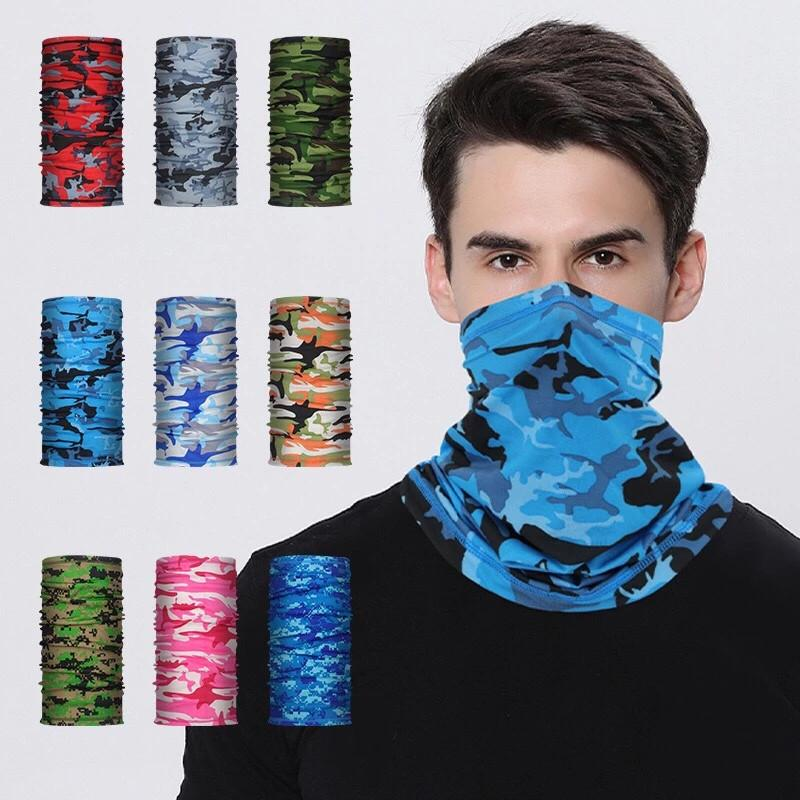 Cycling Sports Bandana Headband Bicycle Fishing Camping Hiking Scarves Outdoor Headscarves Riding Headwear Men Women Neck Tube Shield Face Mask Magic Scarf