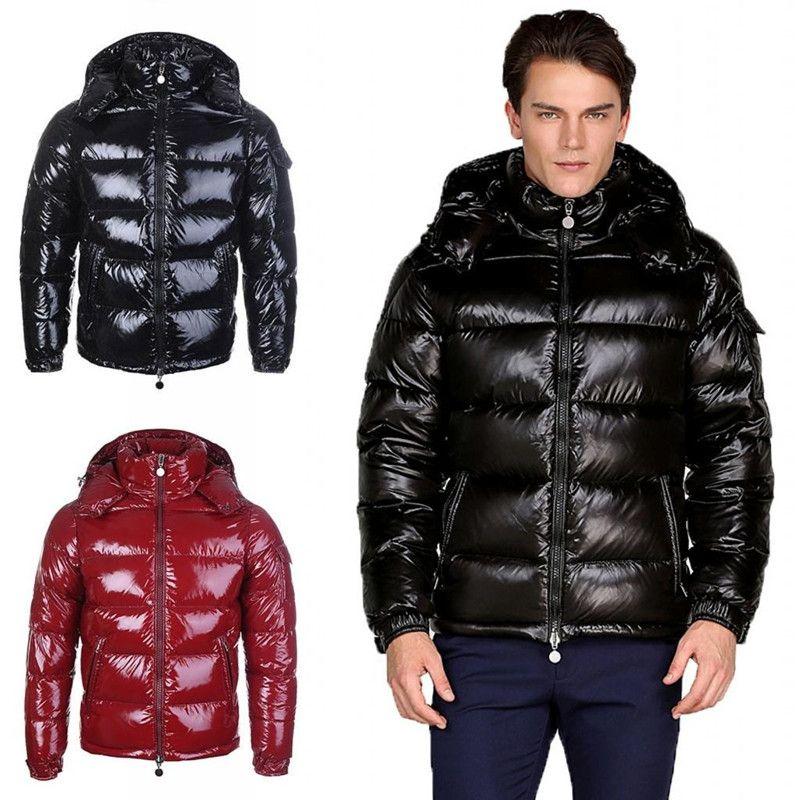 2021 Top Quality Mens Inverno Piumino con cappuccio Giacche con cappuccio Uomo Donna Coppie Coppie Parka Cappotto Cappotto Spessore Cappotto nero Black Red Fashion Pies superati Taglia S-3XL