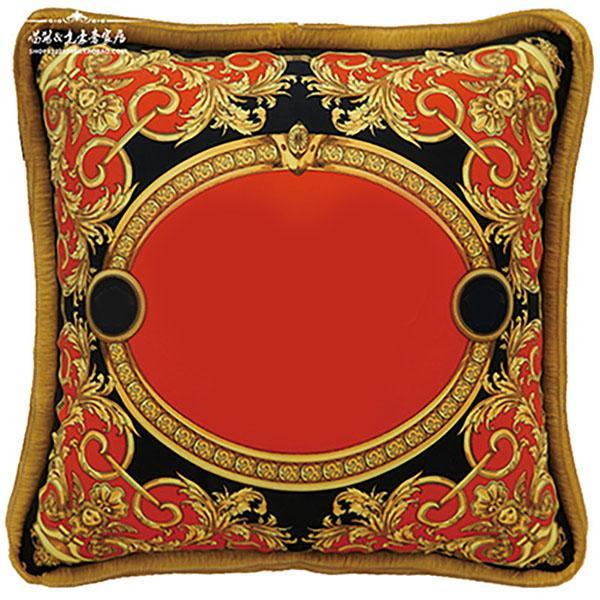 Caja de la almohada de la arpillera sólida de lujo europea Cubiertas Cubiertas de cojín cuadrados de lino clásico Sofá Sofá fundas de almohadas decorativas