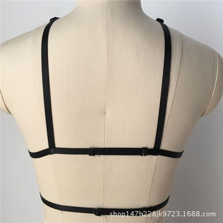 with bra five pointed binding star harness tight Sexy underwear body cage gothic punk style