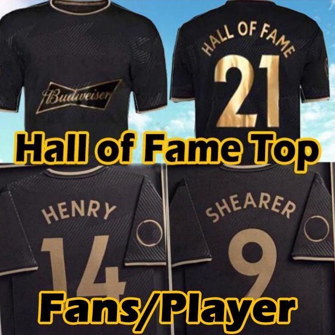 2021 2022 قاعة مشاهير الإنجليزية لكرة القدم الفانيلة 20 21 22 هنري شيرر الرجال عدة مؤطرة خاصة طبعة تذكارية رجل أسود رجل كرة القدم قميص زي التايلاندية