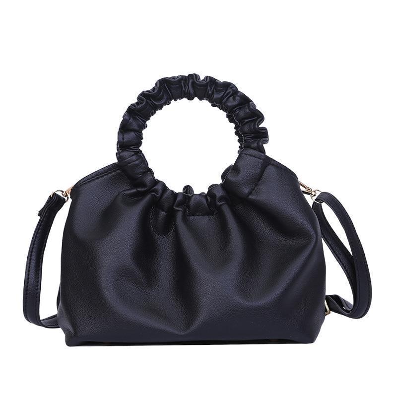 여성용 가방 2021 여름 핸드백 패션 폴드 텍스처 모든 일치 싱글 어깨 대각선 가방 여성 어깨